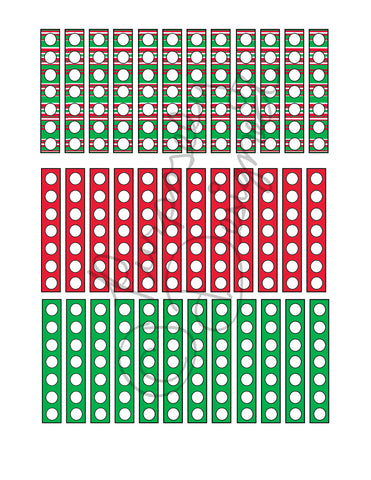 Christmas Check List Planner Sticker Sheet Set 6-Instant Download-Jpeg, PNG