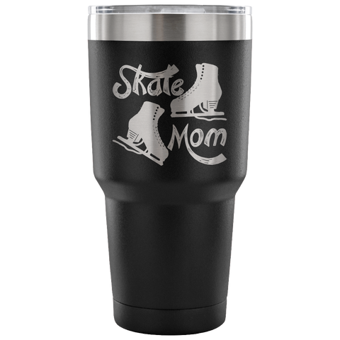 Skate Mom-Style 2-Etched Tumbler -30 ounces-Choose from 7 Colors