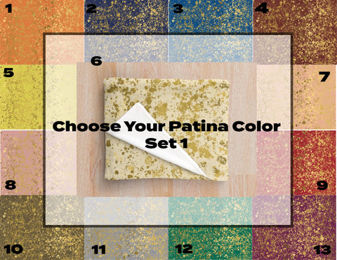 Chose Your Background Color with Gold Patina Design Collection Minky Blankets