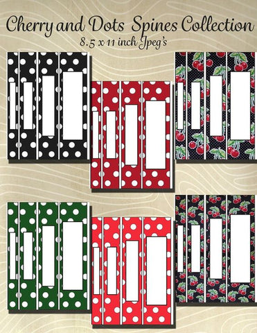 Cherry Large Dot Collection Spine Combo Pack- Instant Download