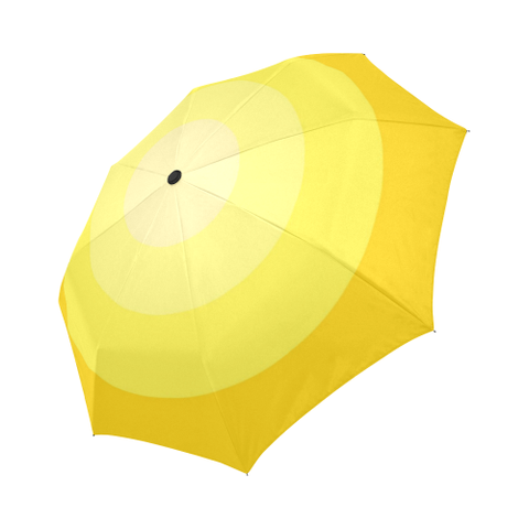 Yellow Gradient Style Auto-Foldable Umbrella