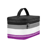 Asexual Pride-Painted Flag Design- Cosmetic Bag/Large