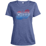 Cheer Doodle/I'd Rather Be Cheering Front and Back Design-Ladies' Dri-Fit Moisture-Wicking T-Shirt
