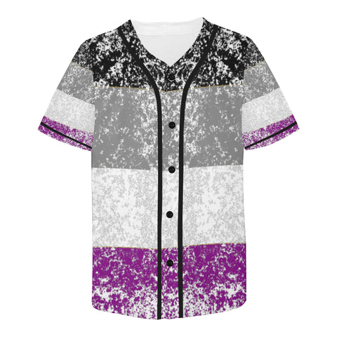 Asexual Distressed Flag Design All Over Print Baseball Jersey