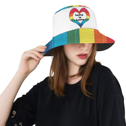 LGBT Pride- Love is Love Bucket Hat All Over Print Bucket Hat