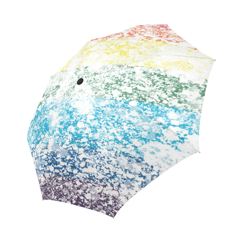 LGBTQ+ Pride Painted Flag Design Auto-Foldable Umbrella