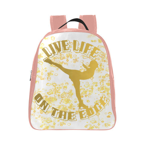 Live Life on the Edge -Children's Small Figure Skating Backpack- Style 5