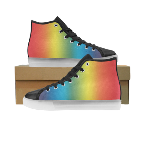 LGBT-Flag-Gradient Custom Light Up Women's Shoes