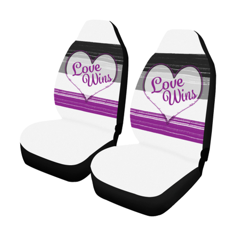 Asexual Pride LGBT Love Wins- Car Seat Covers- Set of Two Car Seat Covers