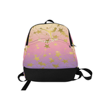Believe -Gold Spiral Figure Skater with Stars-Backpack