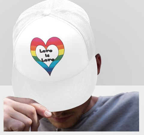 LGBT Pride Love is Love Truckers Hat-2 to Choose From