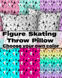 Figure Skating Life- Style 1- Choose Your Own Custom Colors-Premium Hypoallergenic Throw Pillow