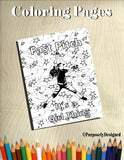 Fast Pitch It's a Girl Thing- Coloring Pages