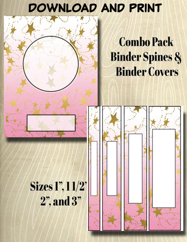 Gradients and Gold Stars - Style 37- Binder and Spine Collection**Not Editable**