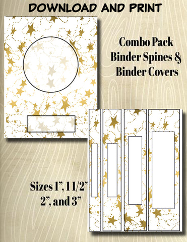 Gradients and Gold Stars - Style 43- Binder and Spine Collection**Not Editable**