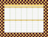 Harry Potter Inspired Gryffindor Checker Pattern Weekly Menu Planner and Grocery List- Instant Download and Printable