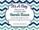 Customized Baby Boy Shower Invitation