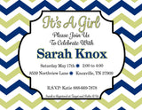 Customized Baby Girl Shower Invitation