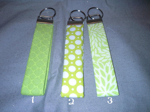 Lime Collection  Fabric  Key Fob's