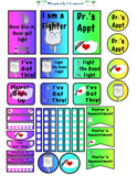 Big Happy Planner Sticker Sheet-Rainbow Gradient Medical Stickers