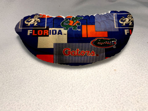 UF Gators Block Fabric-Figure Skating Soakers -1 in Foam Middle Layer and Terry Cloth Inside