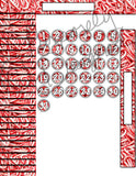 Candy Cane Theme Sticker Set for Big Happy Planner Monthly Layout -Digital Download Sticker Set