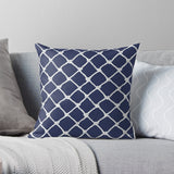 Nautical Rope in White on Blue Depth Design Premium Hypoallergenic Throw Pillow