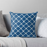 Nautical Rope in White on Classic Blue Design Premium Hypoallergenic Throw Pillow