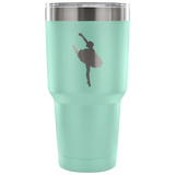 Ballet-Style 3-Etched Tumbler -30 ounces- Choose From a Variety of 7 Colors