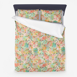 Peony Buds Abound Pattern on Chalk Block Background - Minky Blankets