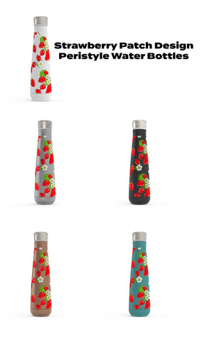 Strawberry Patch - Peristyle Water Bottles - Stainless Steal- Various Colors