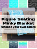 Choose Your Own Custom Colors Figure Skating Subway Style Typography Design Minky Blankets