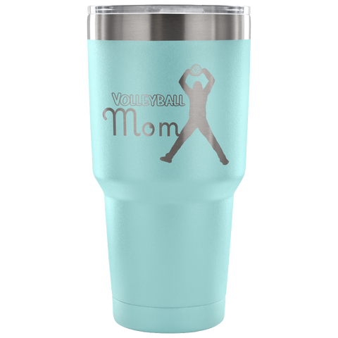 Volleyball Mom-Etched Tumbler -30 ounces- Choose From a Variety of 7 Colors