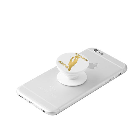 Gold Cheer Life -White Collapsible Grip & Stand for Phones and Tablets