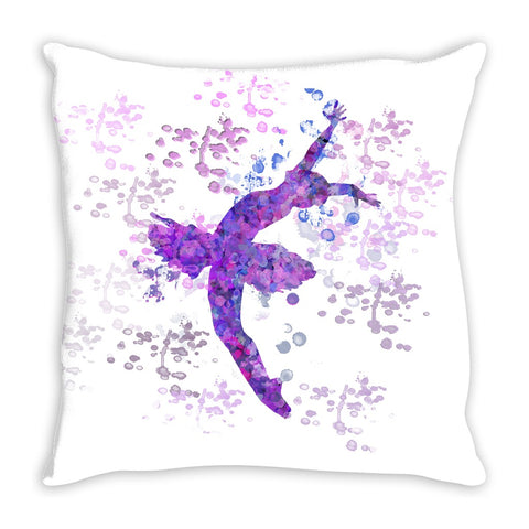 Ballet Water Color Inspired Throw Pillows in Purples-Style 2