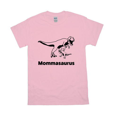 Mommasaurus T-Rex T-Shirts-Black- Mens (unisex) Sizing