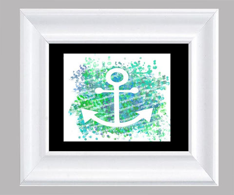 Coastal Collection Anchor- Fine Art Print- Various Sizes Available