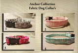 Anchor Fabric Custom Made Dog Collar's- Choose your size