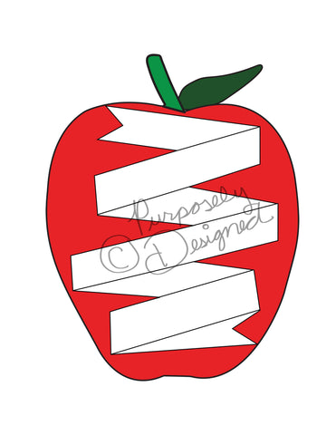 Back to School-Banner and Apple Design-Silhouette Print and Cut Design