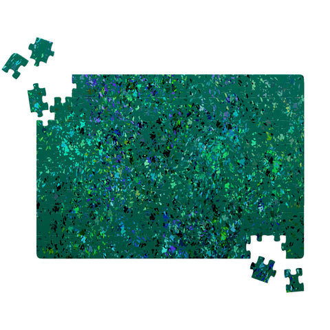 """Formica"" Inspired Design in Teal-Jigsaw Puzzle"