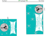 Figure Skating  Gift Bag Toppers file - Instant Download