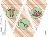 Baby Girl Shower  Collection- Printable Birthday Party Banner - Printable Party Favors