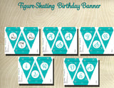Figure Skating Printable Happy Birthday Party Banner - Printable Party Favors
