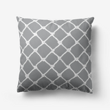 Nautical Rope in White on Ultimate Gray Design Premium Hypoallergenic Throw Pillow