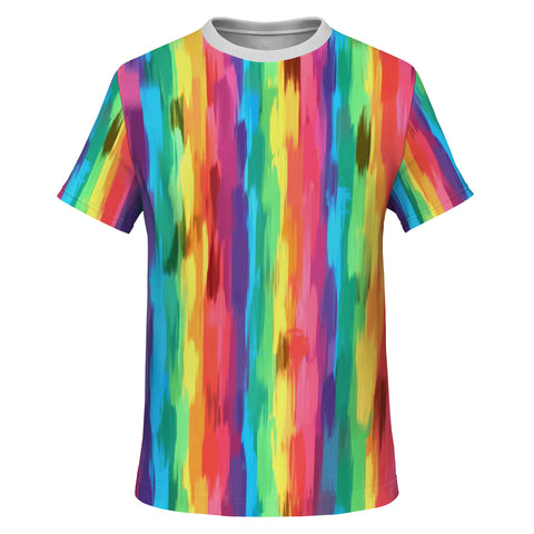 Painted Pride Flag All Over Print Essential Tee Shirt-Unisex