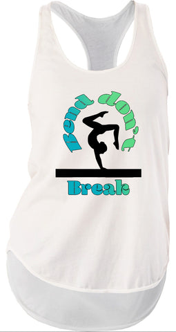Bend Don't Break Gymnastics Bella Women's Flowy Racerback Tank