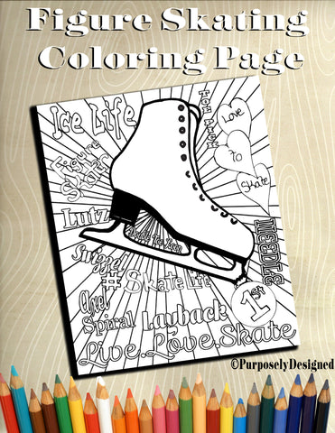 Figure Skating Coloring Pages