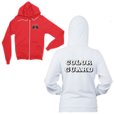 Let Your Colors Fly-Color Guard Zip Front Hoodie-Features both front and back printing