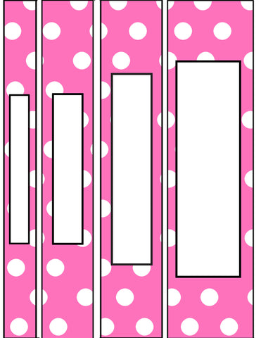 printable binder spine pack variety size pack 8 different colors