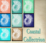 Art Prints Featuring a Nautilus  Shell Choose your Color